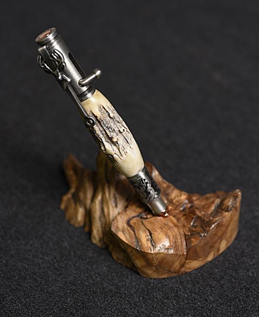 Corps en bois de daim, thème fusil